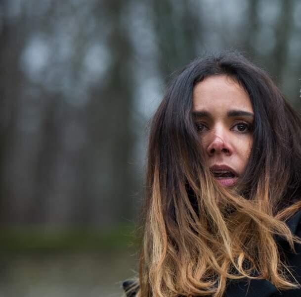 Shy'm lors d'une scène pour la série profilage qui sort le jeudi 12 mars 2020 sur TF1.