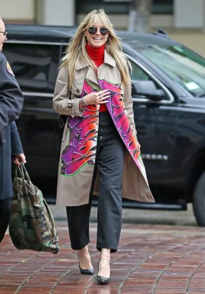 Heidi Klum est une grande adepte du pantalon large.