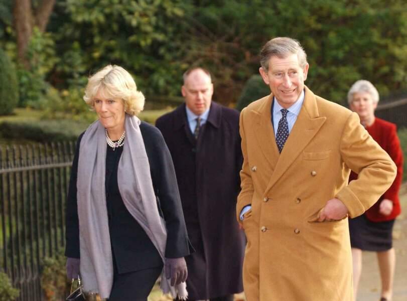 Charles et Camilla à Londres le 19 décembre 2001