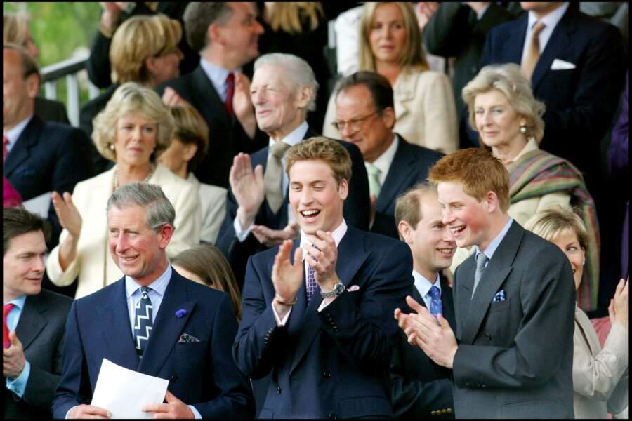 Charles et Camilla au jubilé d'or de la reine à Londres, le 3 juin 2002
