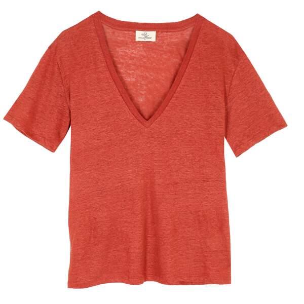 T-Shirt en lin bio, 75 € , Stella Forest.