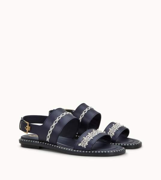 Sandales en cuir lisse et détails en cuir tressé – MAME x TOD'S  - 830 euros