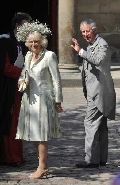 Le prince Charles et Camilla au mariage de Zara Phillips et Mike Tindall, le 30 juillet 2011