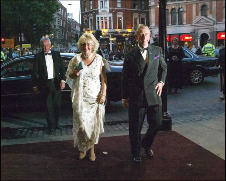 Camilla Parker Bowles et le Prince Charles, lors d'un gala à Londres, le 14 septembre 2004