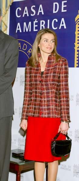 On s'inspire : la veste en tweed de Letizia d'Espagne