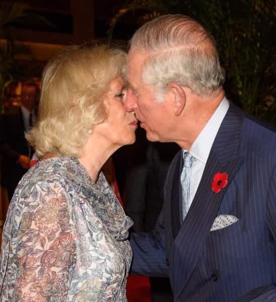 Camille et le prince Charles, à Singapour, le 30 octobre 2017