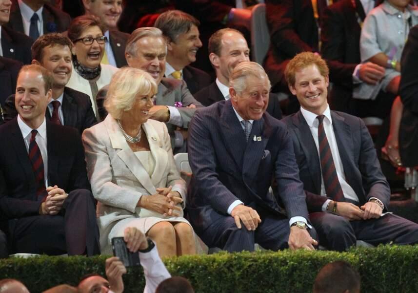 William, Camilla, Charles et Harry, lors des Invictus Games, le 10 septembre 2014