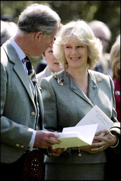 Charles et Camilla à Aberdeen, le 24 avril 2005