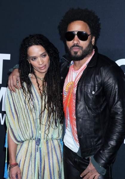Lenny Kravitz et son ex-femme Lisa Bonet aujourd'hui mariée à Jason Momoa
