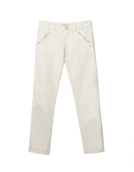 Jean beige, IKKS, 135 €