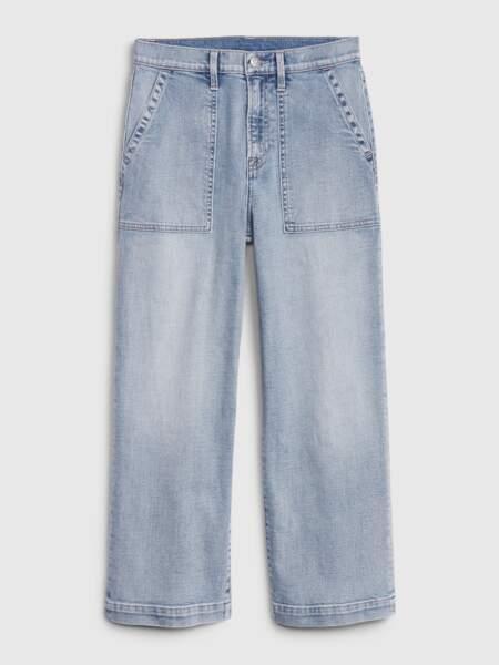 Jean crop taille haute, Gap, 69, 95 €.