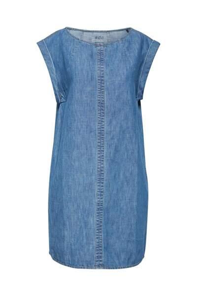 Robe en jean col bateau, EDC by Esprit, 75 €. Sur Amazon Fashion.