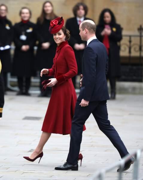 Kate Middleton : à la cérémonie du Commonwealth en l'abbaye de Westminster à Londres, le 9 mars 2020