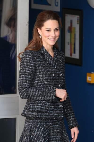 Kate Middleton : en visite un atelier du programme hospitalier de la National Portrait Gallery à l'hôpital pour enfants Evelina le 28 janvier 2020