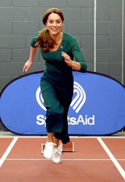 Kate Middleton : lors d'un événement SportsAid au stade olympique de Londres le 26 février 2020