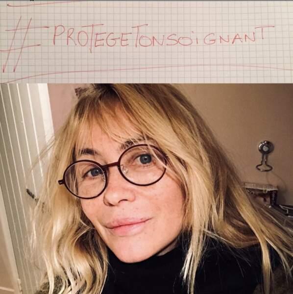 Emmanuelle Béart engagée et naturelle.
