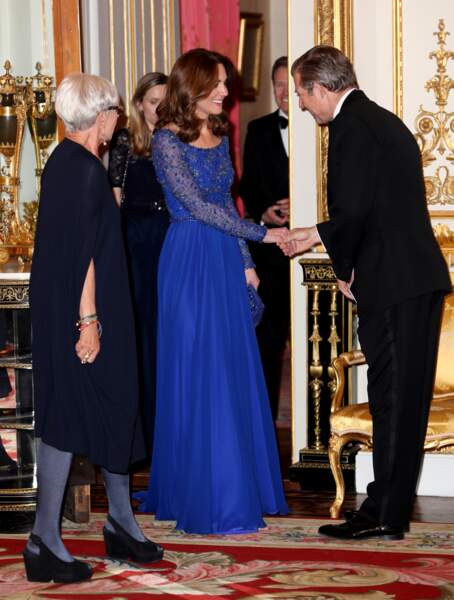 "Kate Middleton : au dîner de gala à l'occasion du 25 ème anniversaire de l'association caritative ""Place2Be"" à Buckingham Palace le 9 mars 2020"