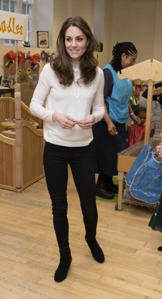 Kate Middleton : en visite au jardin d'enfants LEYF Stockwell à Londres le 29 janvier 2020