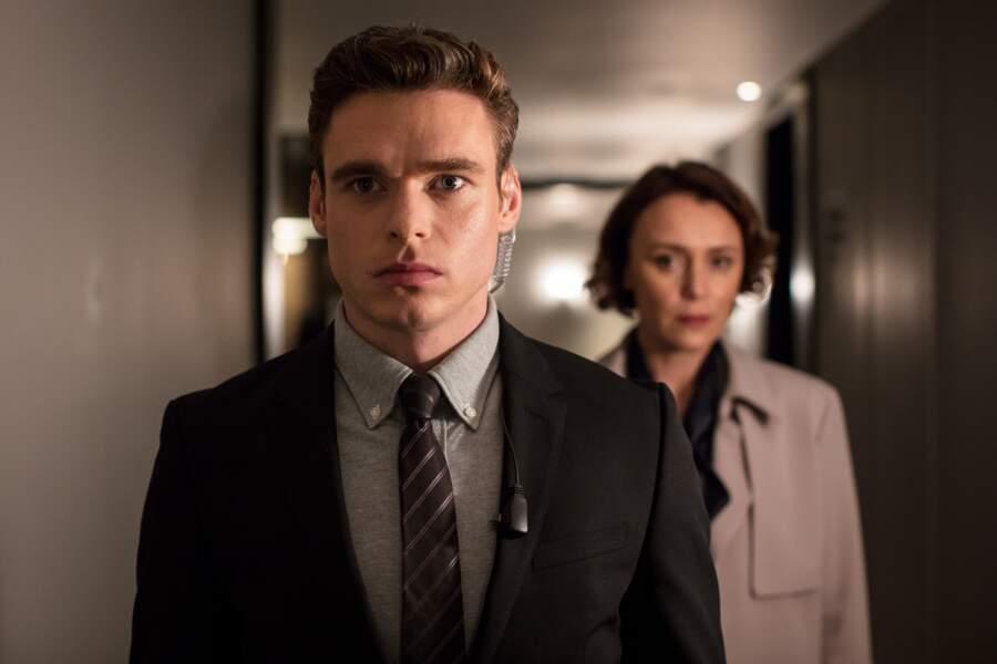 "Richard Madden et Keeley Hawes dans la série ""Bodyguard"""
