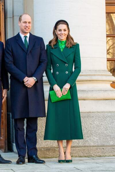 Kate Middleton :  rencontre le Premier ministre d'Irlande Leo Varadkar et son compagnon Matthew Barrett au Aras an Uachtarain à Dublin, Irlande, le 3 mars 2020