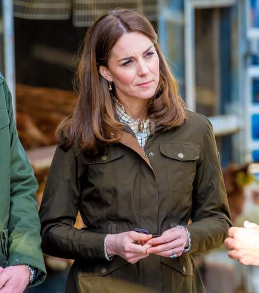 Kate Middleton : en visite de la ferme Teagasc Research Farm dans le comté de Meath, Irlande le 4 mars 2020