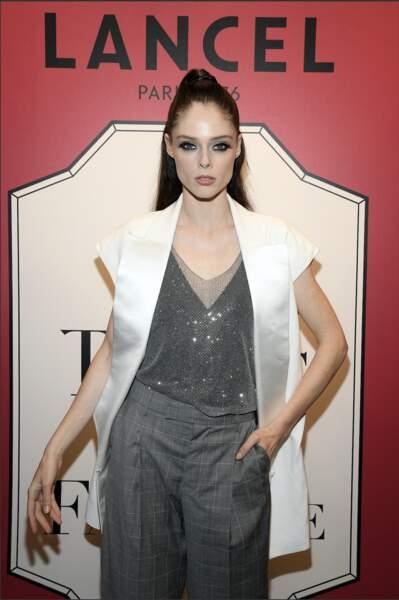 """La mannequin canadienne """"Coco Rocha"""" était aussi présente au lancement Lancel"""