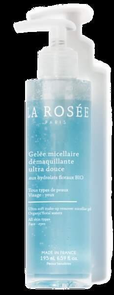 Gelée micellaire, La Rosée, 195ml, 13,90€, Disponible dans 3000 pharmacies et sur larosee-cosmetiques.com