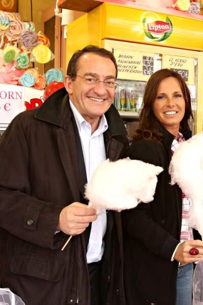 Jean-Pierre Pernaut, toujours aussi souriant et heureux au côté de sa femme Nathalie Marquay en 2010