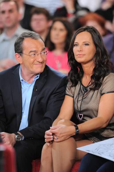 Jean-Pierre Pernaut et Nathalie Marquay sont inséparables, comme cette fois où ils participent ensemble à Vivement Dimanche
