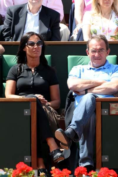 Jean-Pierre Pernaut et Nathalie Marquay assistent ensemble à Roland Garros en 2011