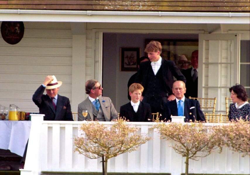 Le prince Philip en famille à Windsor, en 1999