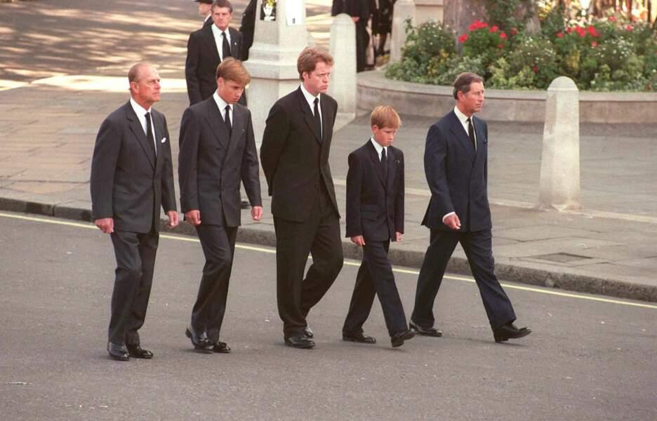 Le prince Philip lors des obsèques de Diana, le 6 septembre 1997