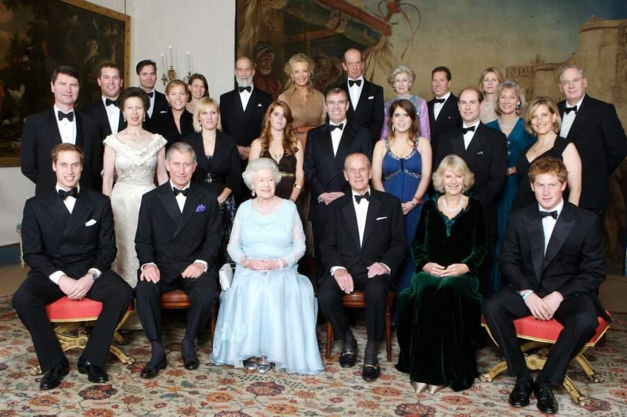 Le prince Philip et la famille royale, à Londres en 2007