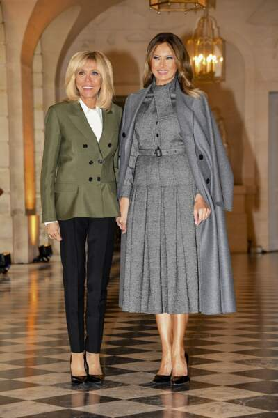 Melania Trump et Brigitte Macron au château de Versailles le 11 novembre 2018