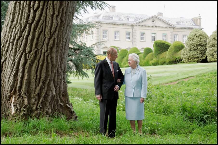 Le prince Philip et la reine Elisabeth à Broadlands en 2007