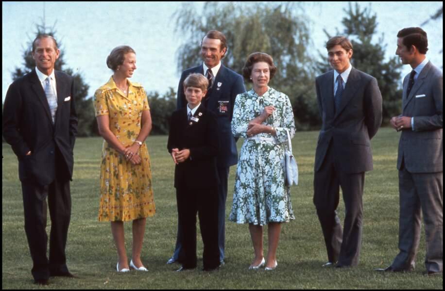 La reine Elisabeth II en famille en 1976
