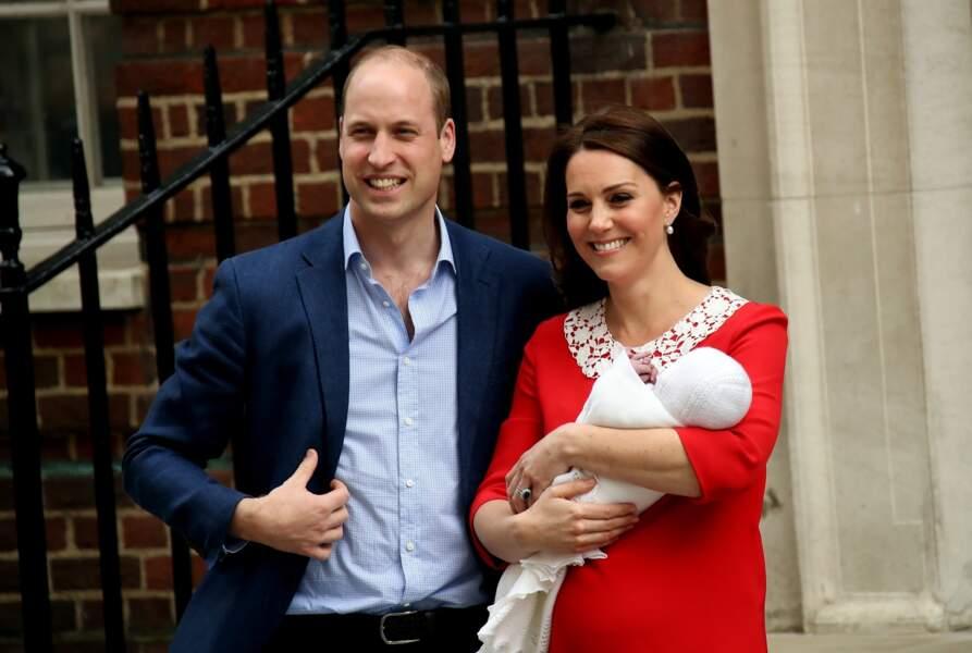 C'est le troisième enfant de la fratrie Cambridge, né le 23 avril 2018, à Londres.