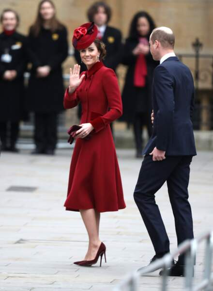 Le prince William et Kate Middleton, lors de la cérémonie du Commonwealth à l'abbaye de Westminster à Londres, le 9 mars 2020.