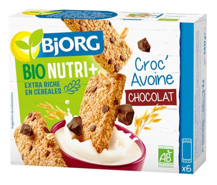 Complet ou Chocolat, Croc'avoine, Bjorg, 3,29 € les 6 barres, au rayon bio des grandes surfaces.