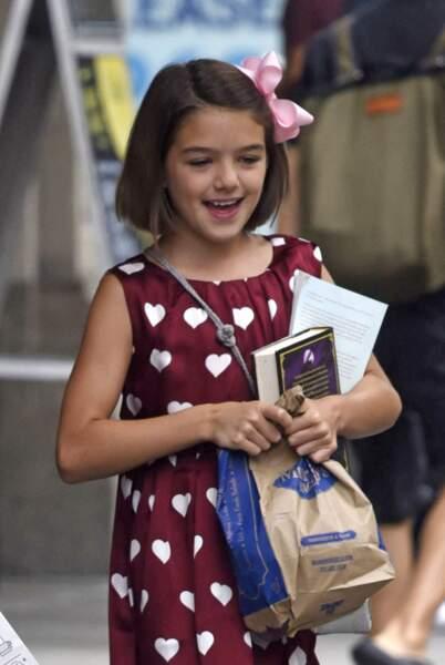 Katie Holmes et sa fille Suri Cruise, 10 ans à New York le 18 août 2016.