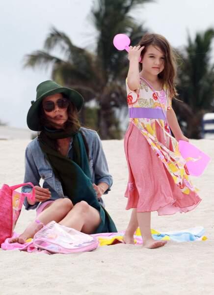 Katie Holmes et Suri Cruise à Miami.