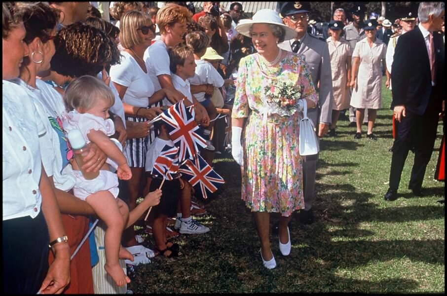 La reine Elizabeth II à Chypre en 1993