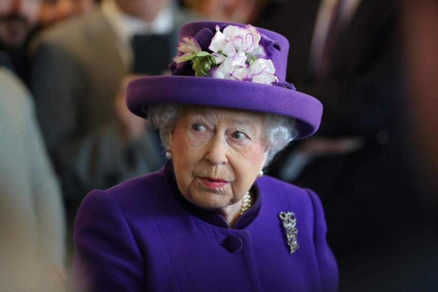 "La reine Elisabeth II d'Angleterre en visite à ""International Maritime Organisation"" à Londres en 2018"
