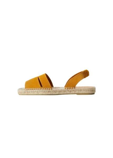 Sandales cuir sparte, 39,99 €, Mango