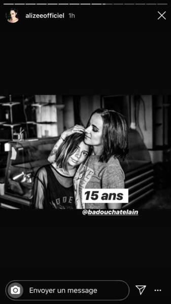 Annily, la fille aînée d'Alizée, fête ses 15 ans le 28 avril 2020.
