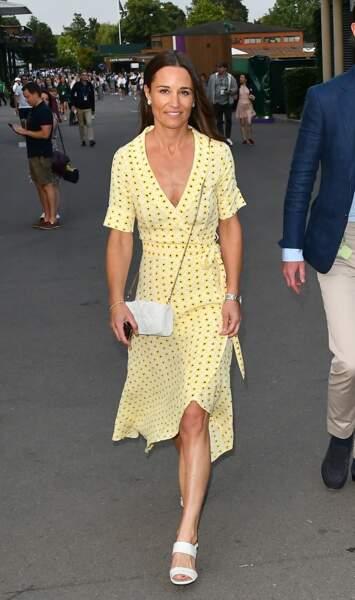 Pippa Middleton à Wimbledon, le 12 juillet 2019