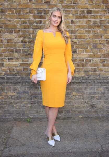 Kitty Spencer lors de la fashion week de Londres, le 15 septembre 2019