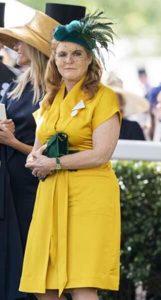 Sarah Ferguson lors du Royal Ascot , le 21 juin 2019