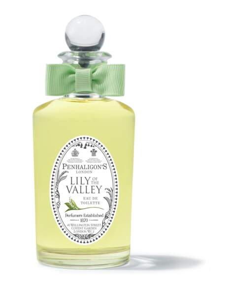 Un incontournable de la tradition anglaise depuis 1976 : Lily of the Valley, Penhaligons, 100 ml, 119€, penhaligons.com