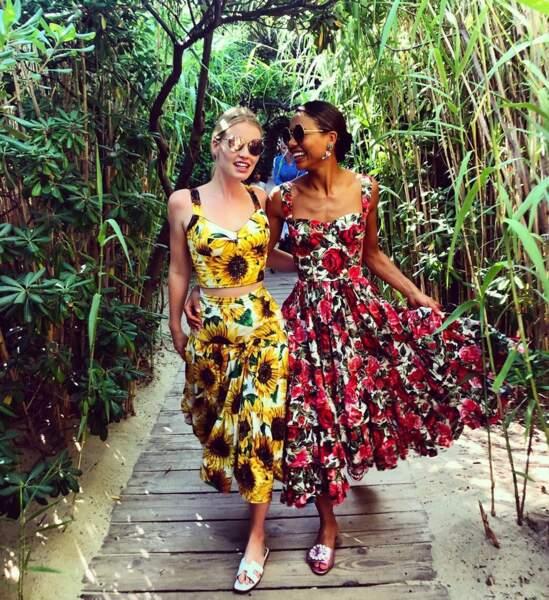 Kitty Spencer et Emma Weymouth à St Tropez, le 7 août 2019